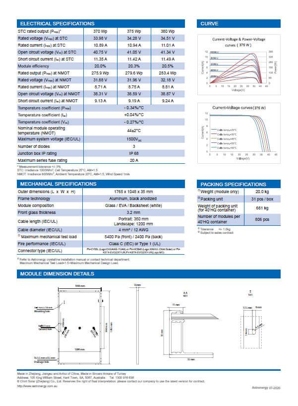 AstroSemi Astonergy Panel Brochure 2