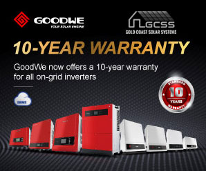 GoodWe 10 Year Inverter Warranty from Gold Coast Solar Systems.