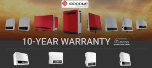 Goodwe Inverters 10 Year Warranty